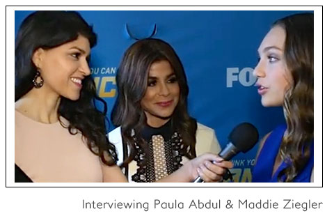 Interviewing Paula Abdul and Maddie Ziegler
